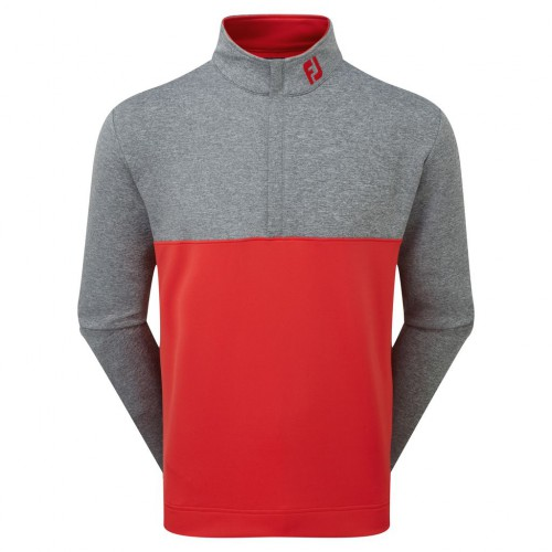 FootJoy Mens Colour Block Chillout Golf Pullover 1/4 Zip Sweater - Athletic Fit