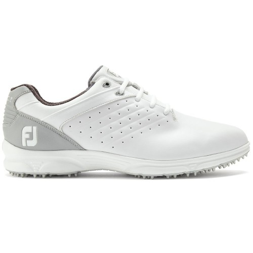 FootJoy Arc SL Spikeless Leather Mens Golf Shoes (White/Grey)