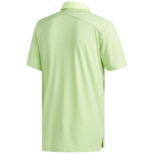 Adidas Golf Mens Climachill Tonal Stripe Short Sleeve Polo Shirt reverse