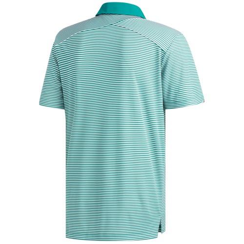 Adidas Golf Mens Climachill Tonal Stripe Short Sleeve Polo Shirt reverse