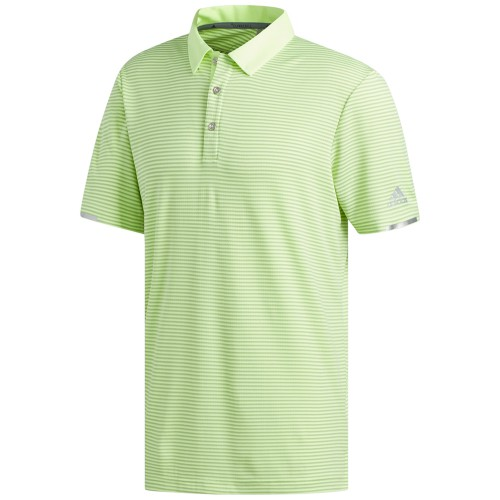 Adidas Golf Mens Climachill Tonal Stripe Short Sleeve Polo Shirt