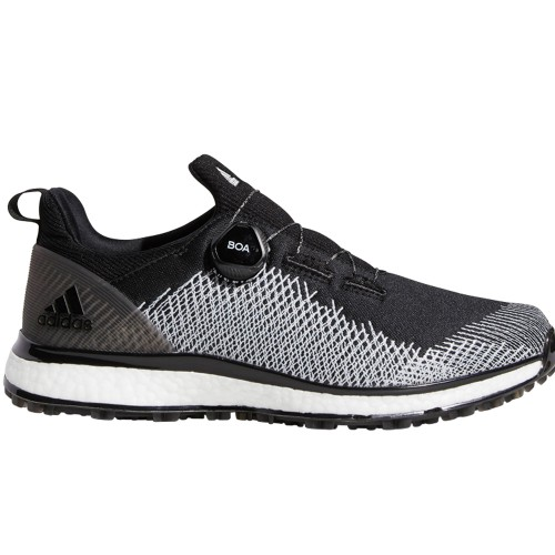 adidas Golf Forgefiber Boa Spikeless Mens Golf Shoes (Black/White)