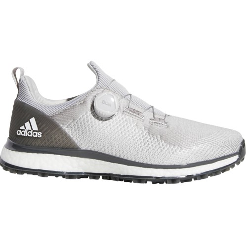 adidas Golf Forgefiber Boa Spikeless Mens Golf Shoes (Grey/White)