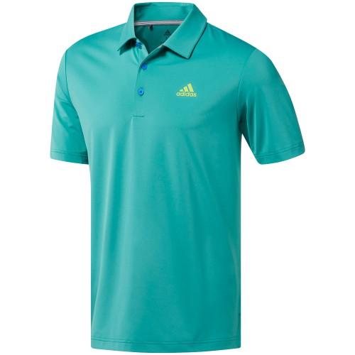 Adidas Golf Mens Ultimate365 Solid Short Sleeve Polo Shirt