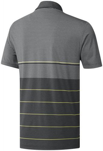 adidas Golf Ultimate 365 Heather Stripe Mens Short Sleeve Polo Shirt