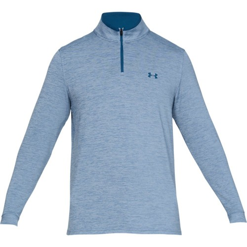 Under Armour Golf Playoff 2.0 1/4 Zip Mens Sweater (Thunder/Petrol Blue)