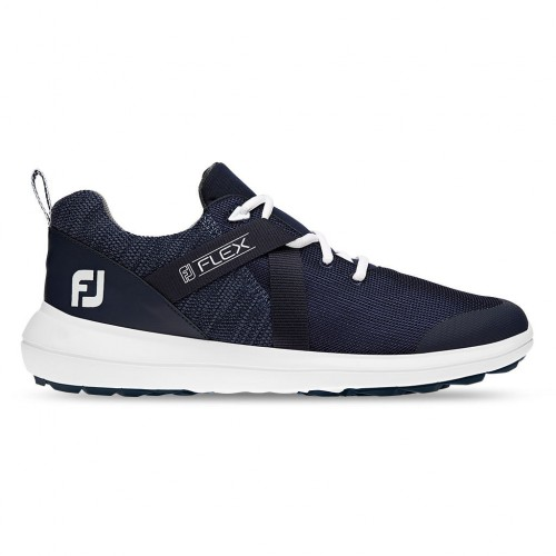 FootJoy Flex Lightweight Mesh Spikeless Mens Golf Shoes (Navy)