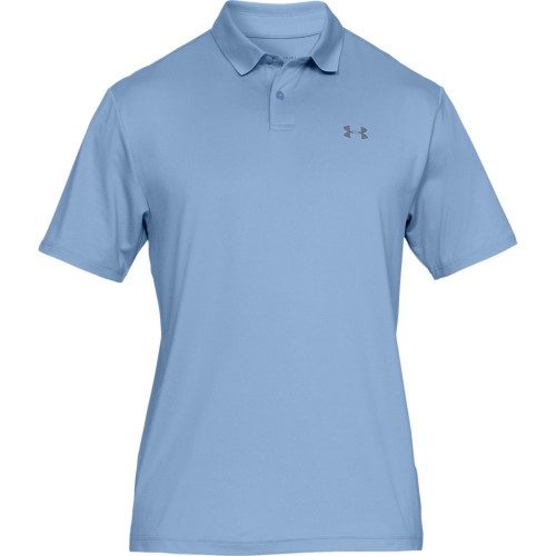 Under Armour Performance 2.0 Mens Golf Polo Shirt (Boho Blue)