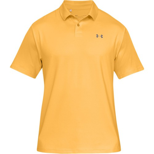 Under Armour Performance 2.0 Mens Golf Polo Shirt (Mango Orange)