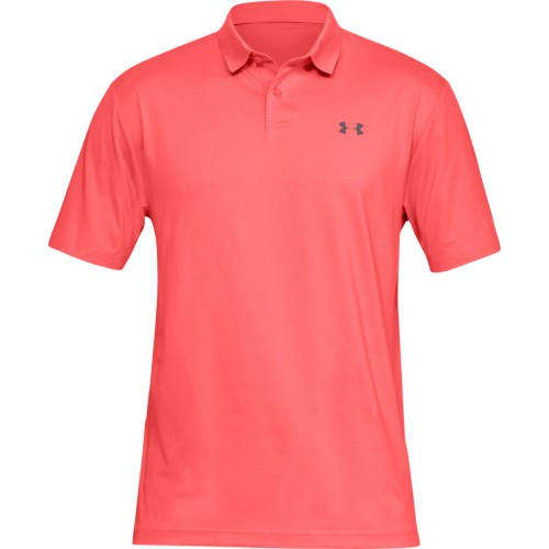 Under Armour Performance 2.0 Mens Golf Polo Shirt (Blitz Red)