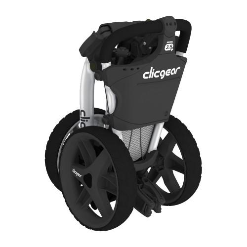 Clicgear 3.5+ Golf Trolley Push Cart + Umbrella Holder, Drinks Holder + Free Gift reverse