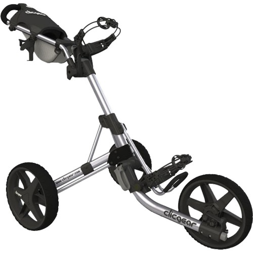 Clicgear 3.5+ Golf Trolley Push Cart + Free Wheel Covers (Silver)