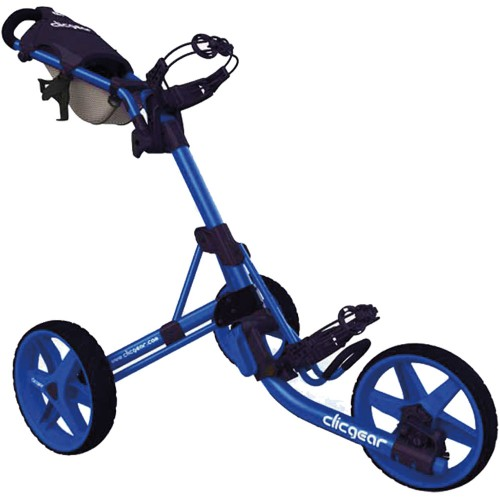 Clicgear 3.5+ Golf Trolley Push Cart + Free Wheel Covers (Blue)