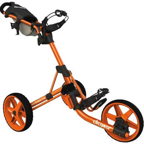 Clicgear 3.5+ Golf Trolley Push Cart + Umbrella Holder, Drinks Holder + Free Gift