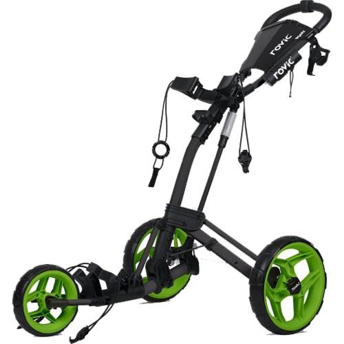 ClicGear Rovic RV2L Golf Trolley Push Cart + Umbrella Holder, Drinks Holder
