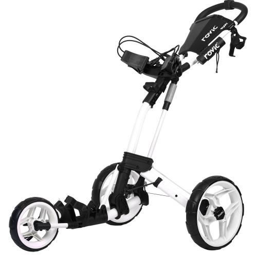 ClicGear Rovic RV2L Golf Trolley Push Cart + Umbrella Holder, Drinks Holder + Free Gift