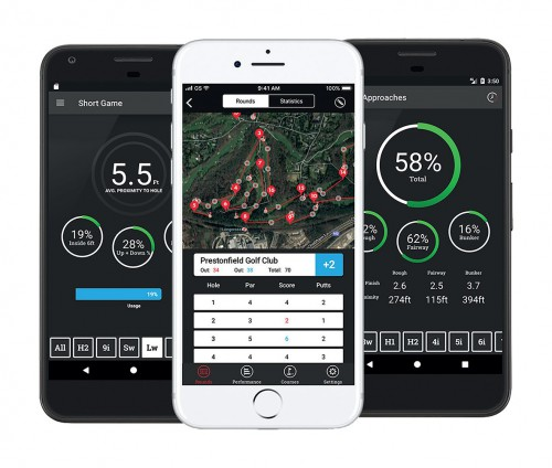 Shot Scope V2 Golf GPS + Performance Tracking Watch reverse