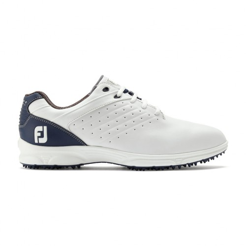 FootJoy Arc SL Spikeless Leather Mens Golf Shoes (White/Navy)