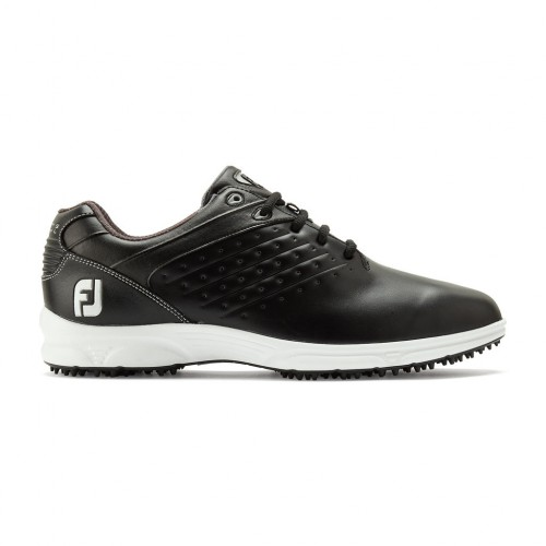 FootJoy Arc SL Spikeless Leather Mens Golf Shoes (Black)