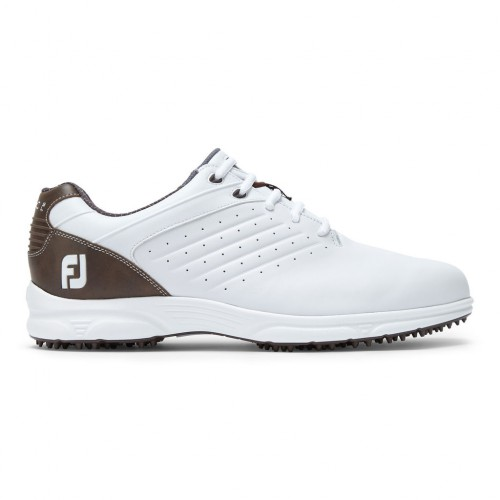 FootJoy Arc SL Spikeless Leather Mens Golf Shoes  - White/Brown