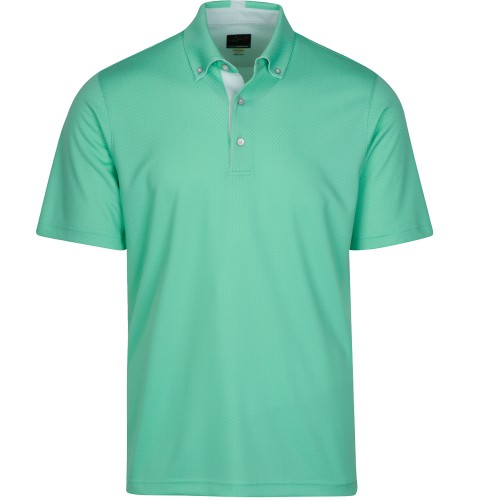 Greg Norman Mens Weatherknit Seaside Polo Golf Polo Shirn