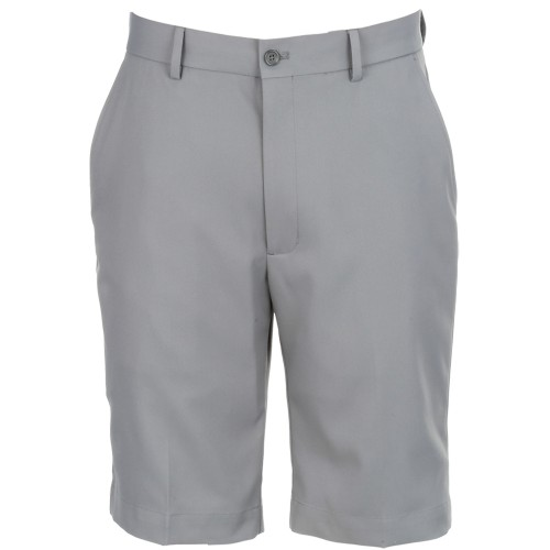 Greg Norman Mens Performance Flat Front Tech Stretch  Golf Shorts(Black)
