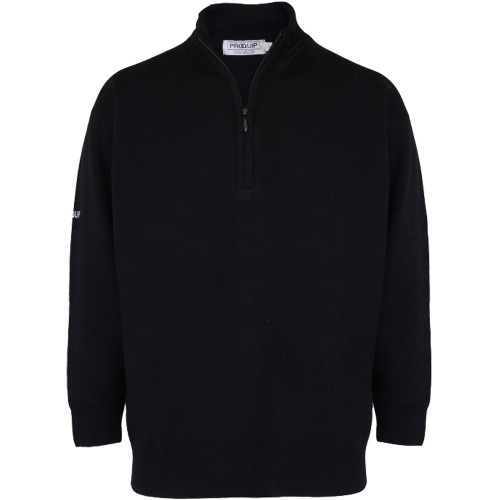 ProQuip Mens Lambswool Unlined Zip Neck Sweater