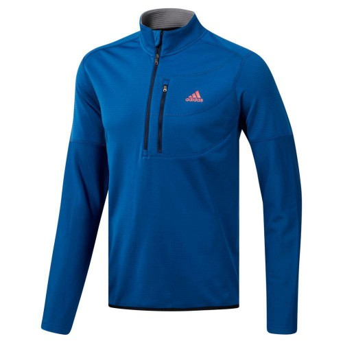 adidas Golf Climawarm Gridded 1/4 Zip Mens Sweater (Dark Marine)