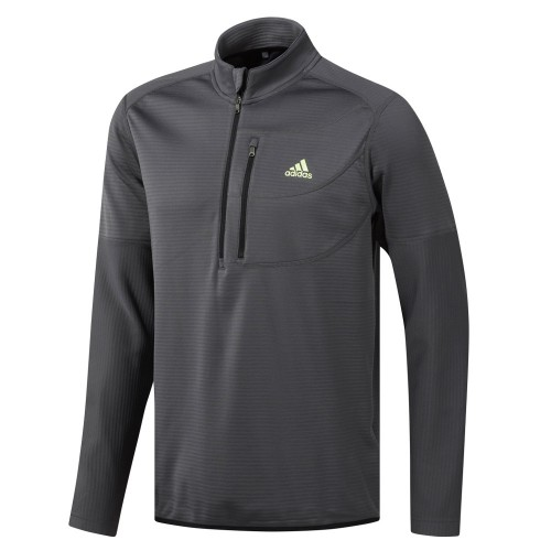 adidas Golf Climawarm Gridded 1/4 Zip Mens Sweater (Grey Five)
