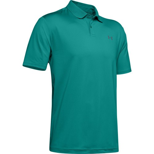 Under Armour Performance 2.0 Mens Golf Polo Shirt (Teal Rush)