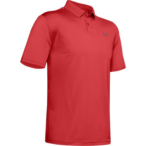 Under Armour Performance 2.0 Mens Golf Polo Shirt (Martian Red)