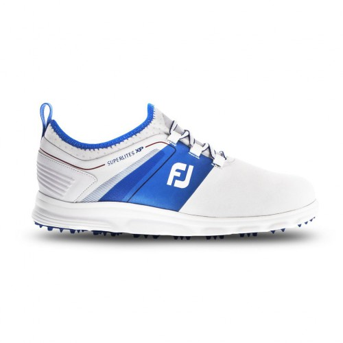FootJoy Superlites XP Waterproof Spikeless Mens Golf Shoes (White/Blue/Red)