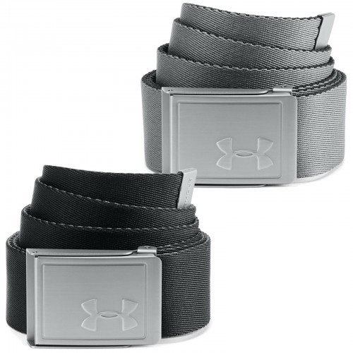 Under Armour Golf Reversible Webbing 2.0 Mens Belt (Black/Pitch Grey)