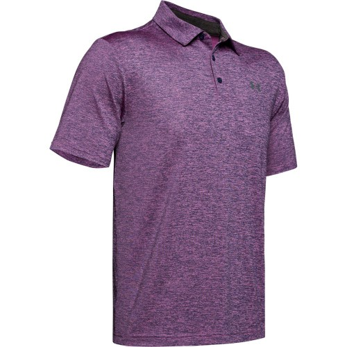 Under Armour Golf Playoff 2.0 Stretch Mens Polo Shirt (Optic Purple/Pitch Grey)