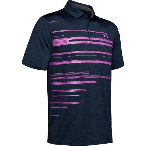 Under Armour Golf Playoff 2.0 Stretch Mens Polo Shirt (Academy/Optic Purple)