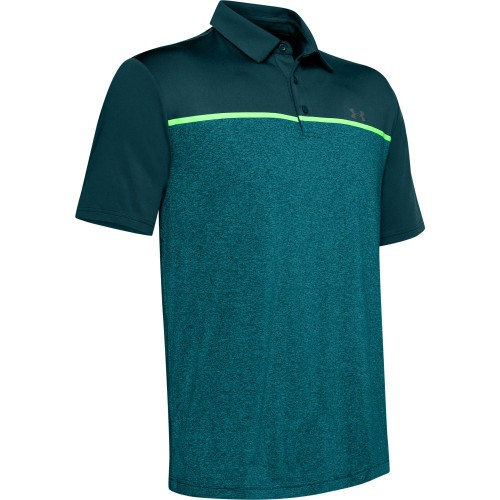 Under Armour Golf Playoff 2.0 Stretch Mens Polo Shirt (Tandem Teal/Pitch Grey)