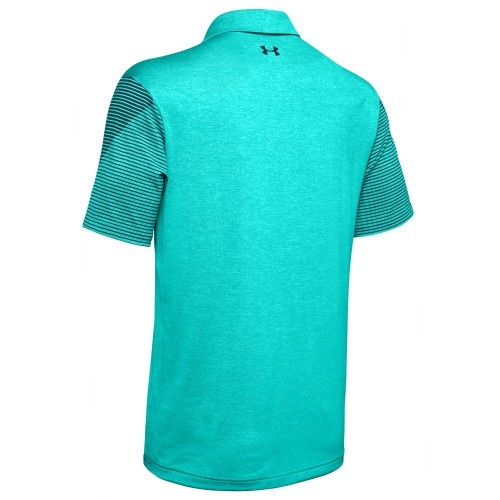 Under Armour Golf Playoff 2.0 Stretch Mens Polo Shirt  - Teal Rush/Tandem Teal