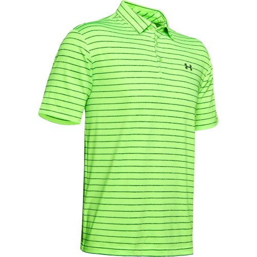 Under Armour Golf Playoff 2.0 Stretch Mens Polo Shirt (Lime Light/Pitch Grey)