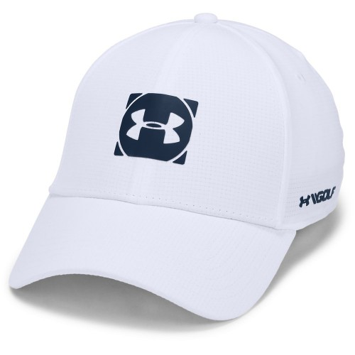 Under Armour Golf Official Tour 3.0 Mens Baseball Cap (White/Academy)