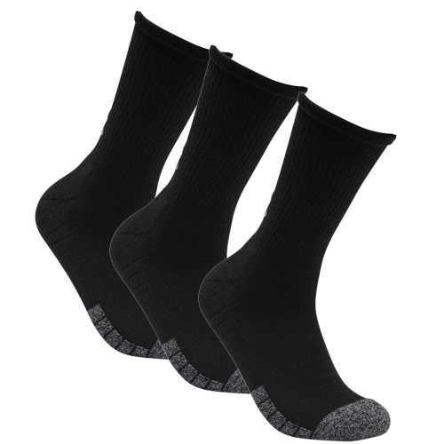 Under Armour Mens Golf HeatGear Tech Crew Golf Socks - 3 Pack