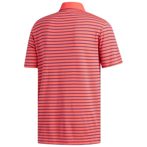 Adidas Mens Golf Climachill Three Colour Stripe Polo Shirt reverse