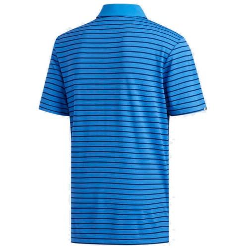Adidas Mens Golf Climachill Three Colour Stripe Polo Shirt reverse