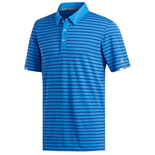 Adidas Mens Golf Climachill Three Colour Stripe Polo Shirt