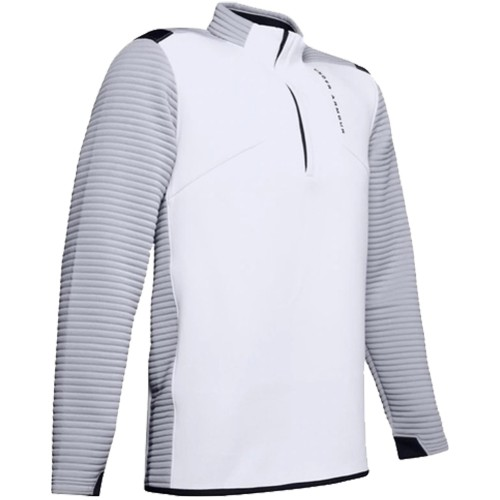 Under Armour Golf UA Storm Daytona Mens 1/2 Zip Sweater (White/Grey)