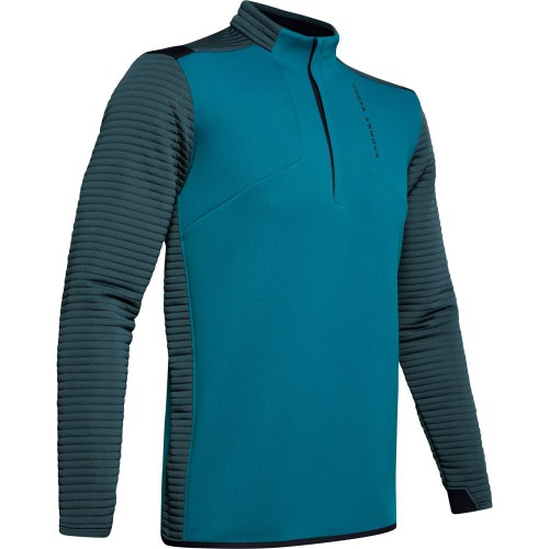 Under Armour Golf UA Storm Daytona Mens 1/2 Zip Sweater (Teal Vibe)