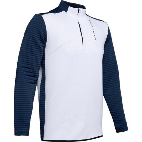 Under Armour Golf UA Storm Daytona Mens 1/2 Zip Sweater (Moonstone Blue)