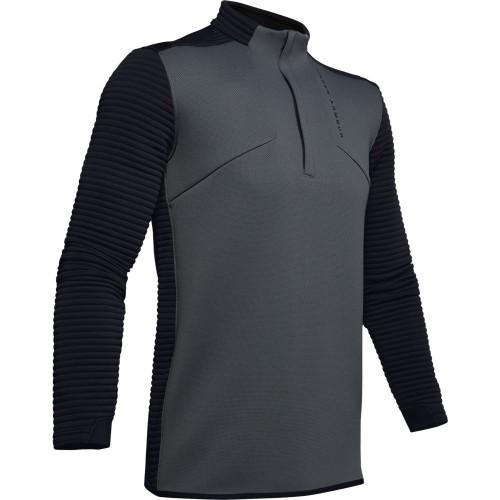 Under Armour Golf UA Storm Daytona Mens 1/2 Zip Sweater (Pitch Grey)