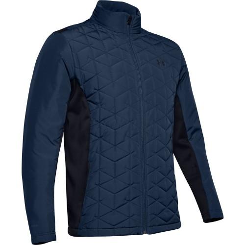 Under Armour Golf Mens ColdGear Reactor Hybrid Jacket (Academy)