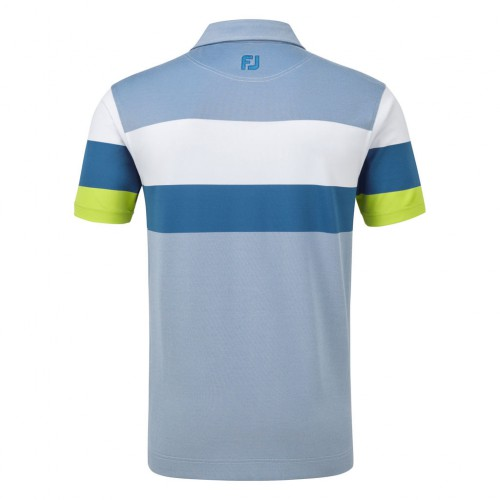FootJoy Mens Engineered Birdseye Pique Golf Short Sleeve Polo Shirt ((NW)) reverse