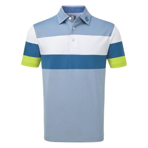 FootJoy Mens Engineered Birdseye Pique Golf Short Sleeve Polo Shirt ((NW))